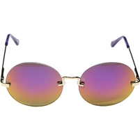 Betsey Johnson Rimless Lennon Round Sunglasses