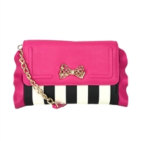 Betsey Johnson Flouncin Around Wallet On A Chain Crossbody