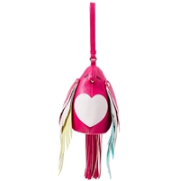 Betsey Johnson Bird Is The Word Love Bird Wristlet,