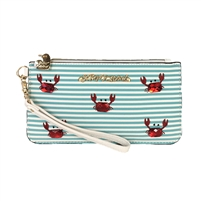 Betsey Johnson Don't Be Shellfish Crab Wristlet