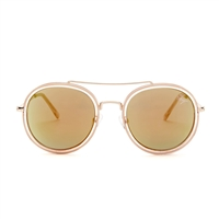 Betsey Johnson Retro Tinted Round Aviators Sunglasses