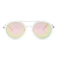 Betsey Johnson Top Bar Round Sunglasses