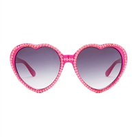 Betsey Johnson Bling It On Rhinestone Heart Sunglasses