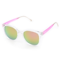 Betsey Johnson Retro Pink Mirrored Sunglasses