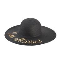 Betsey Johnson Just Married Floppy Pom Sun Hat