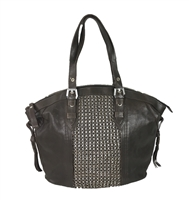 orYANY Betsy Leather Chainmail Tote Bag
