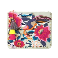 Steve Madden Breza Colorful Embroidered Large Clutch