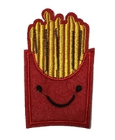 Melie Bianco Cute Fries Embroidered Patch Sticker Applique