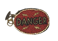 Mary Frances 'High Voltage' Danger Zip Coin Purse /FOB