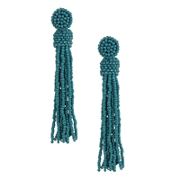 Zad Jewelry Marco Beaded Tassel Drop Earrings