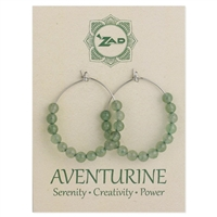 Zad Jewelry Aventurine Hoop Earrings