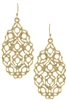 Moroccan Filigree Drop Earrings