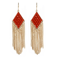 Amrita Singh Katie Fringe Drop Earrings