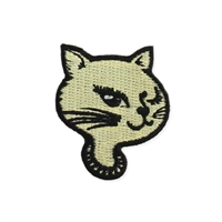 Zad Retro Kitty Cat Embroidered Iron On Patch