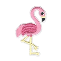 Flamingo Embroidered Iron On Patch Applique