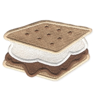 Gooey S'mores Embroidered Iron On Patch Applique