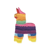 Colorful Fiesta Pinata Embroidered Iron On Patch Applique