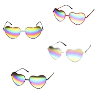 Rainbow Lens Heart Frame Sunglasses