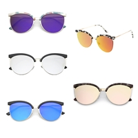 Mirrored Flat Lens Cat Eye Sunglasses