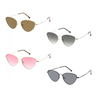 Dusk Thin Metal Cat Eye Sunglasses