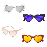 Lolita Heart Cat Eye Mirrored Sunglasses