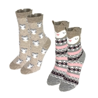 Critter Owl Set of 2 Crew Socks