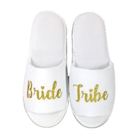 Bride Tribe Bridal Terry Slippers Spa Sandals