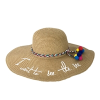 Fashion Culture 'I Want To See The Sea' Straw Sun Hat