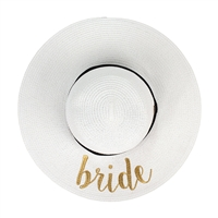 Bride Bridal Floppy Straw Sun Hat