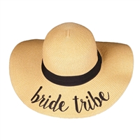 Bride Tribe Bridal Floppy Straw Sun Hat