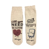 Fashion Culture Love & Wifi Crew Socks