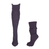 Fashion Culture Cozy Knit Knee High Socks