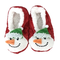 Fashion Culture Snowman Fuzzy Slipper Socks