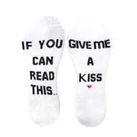 If You Can Read This...Give Me A Kiss Novelty Ankle Sock