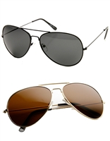 Unisex Polarized Lens Oversized Aviator Sunglasses