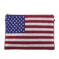 From St Xavier USA American Flag  Beaded Convertible Clutch