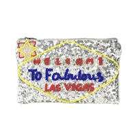 From St Xavier Viva Las Vegas Sequin Clutch