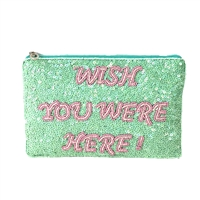 From St Xavier Wishes Sequin Clutch