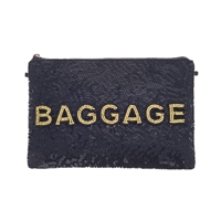 From St Xavier Baggage Sequin Beaded Clutch