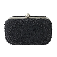 From St Xavier Victoria Beaded Box Clutch Evening Bag