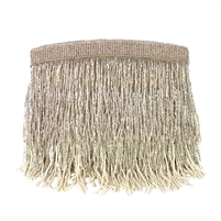 From St Xavier Sienna Beaded Fringe Clutch Evening Bag