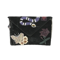 From St Xavier Gabby Velvet Beaded Clutch
