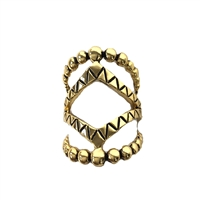 Covet Shield Open Statement Ring