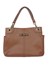 Calvin Klein Leather Top Handle Tote