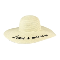 Magid Leave A Message Floppy Straw Sun Hat