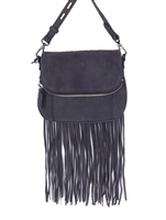 Rebecca Minkoff Mini Crosby Saddle Bag w Long Fringe