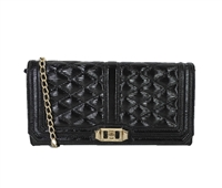 Rebecca Minkoff Love Clutch Patent Leather Bag