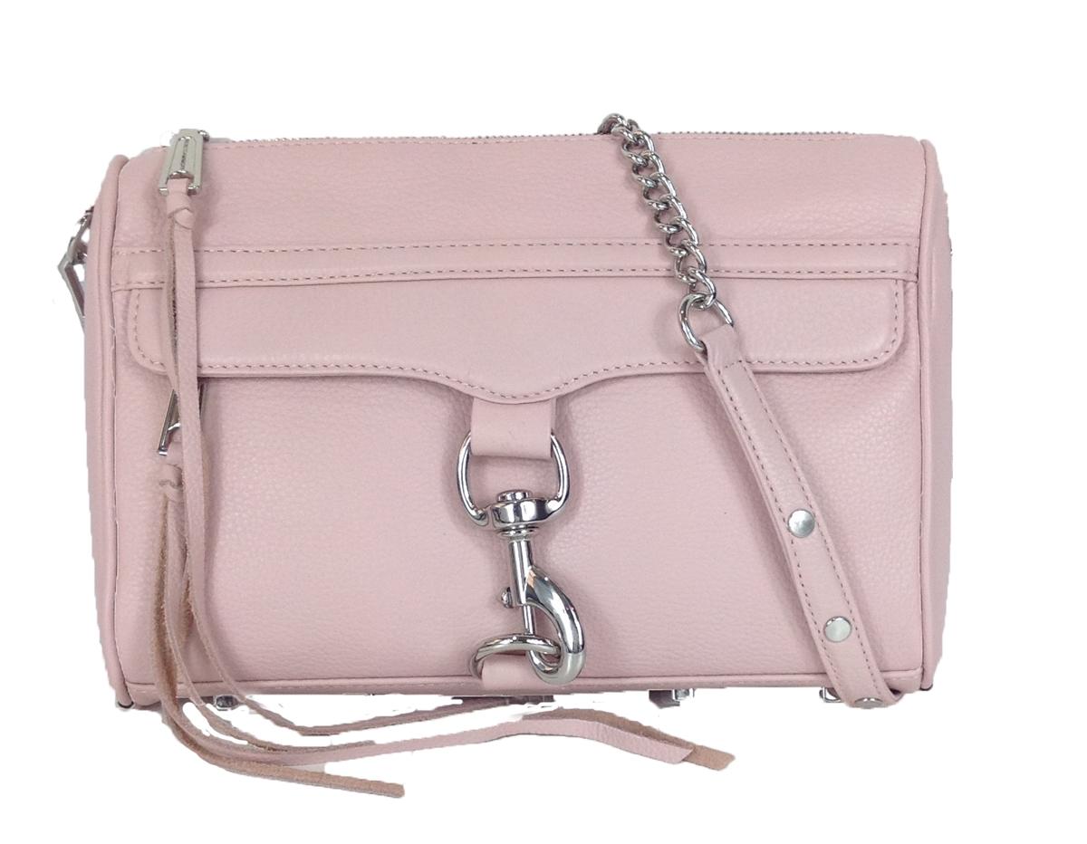 Rebecca Minkoff MAC Clutch Leather Crossbody Bag, Blush