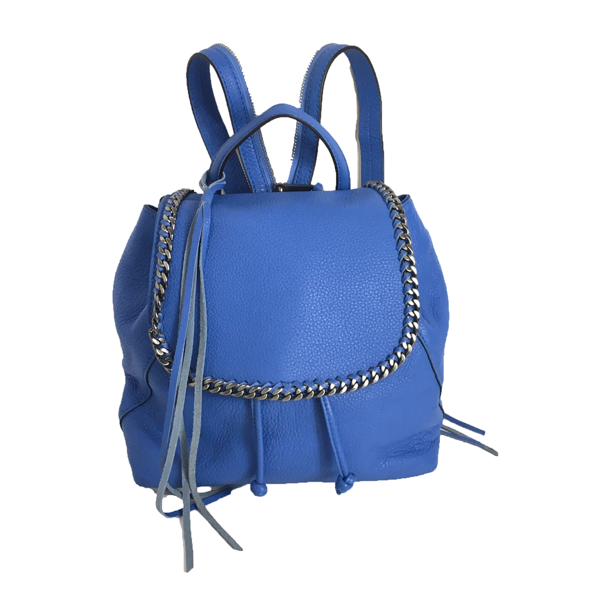 Rebecca Minkoff Small Bryn Leather Backpack, Denim Blue