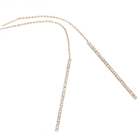 Jewelry Collection Pave Bar Threader Earring